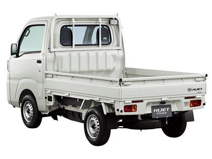 ダイハツの白いハイゼットトラック