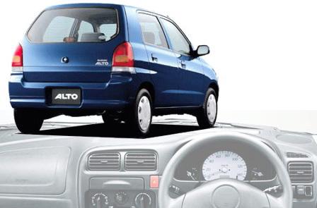 紺色のアルトと運転席