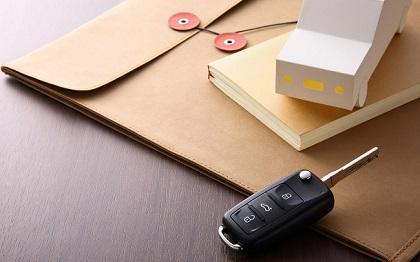 封書と車の鍵