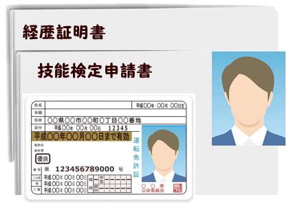 免許証と写真のイラスト