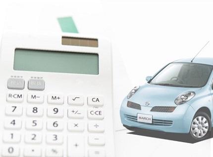 白い計算機と水色のマーチ