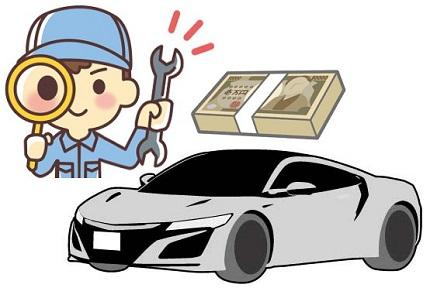 車と車検費用イラスト