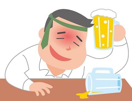 酔っ払いの男性のイラスト