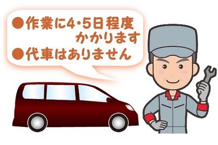 整備士と車のイラスト