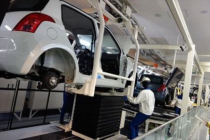 車の生産ライン