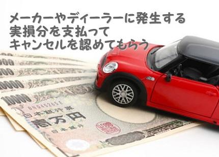 一万円札と赤いミニカー