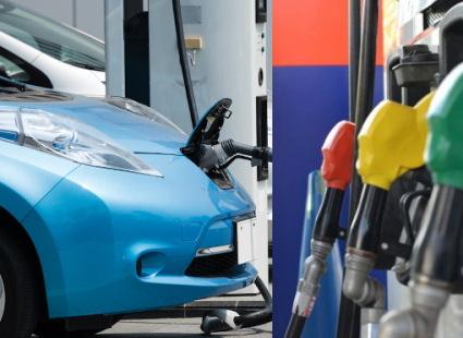 電気自動車の充電と給油スタンド