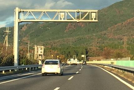 自動速度取締装置のある道路