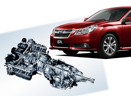 スバル車と内部エンジン