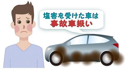 男性と車の文字入りイラスト