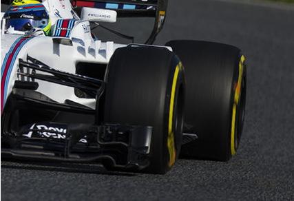 F1カーのスリックタイヤ