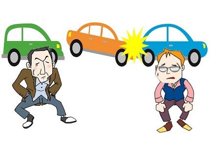 3台の車と2人の男性イラスト