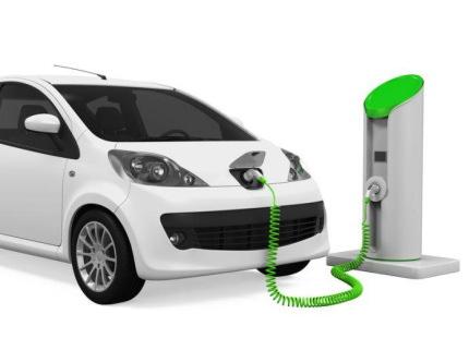 充電をしている車