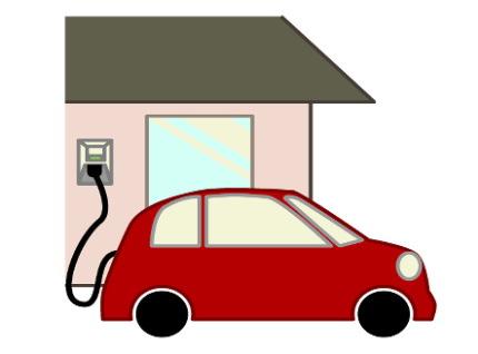 家庭で充電するクルマ
