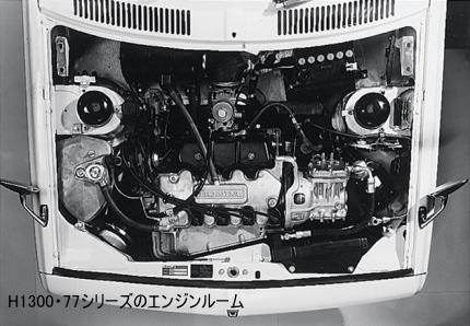 1300シリーズのエンジンルーム