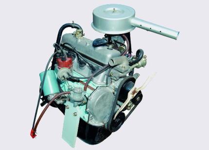 1077ccの水冷直列4気筒OHVエンジン