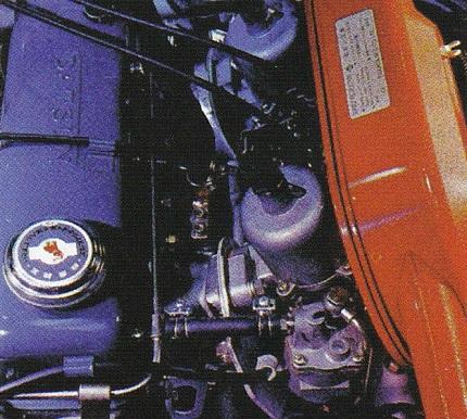 1200ccに排気量をアップさせた12A型エンジン