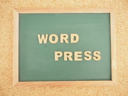 黒板とWordPressの文字