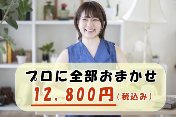 プロに全部お任せ12800円